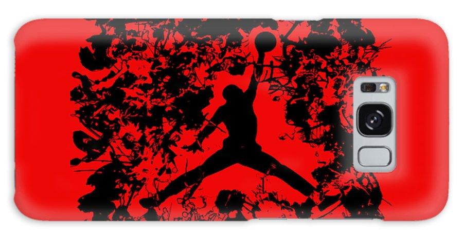 Michael Jordan Galaxy Case featuring the painting Air Jordan 1b by Brian Reaves