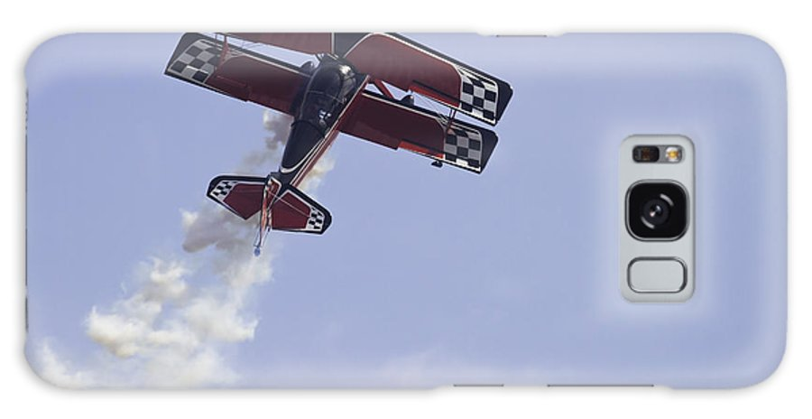 Airplane Galaxy S8 Case featuring the photograph Airplane Performing Stunts At Airshow Photo Poster Print by Keith Webber Jr