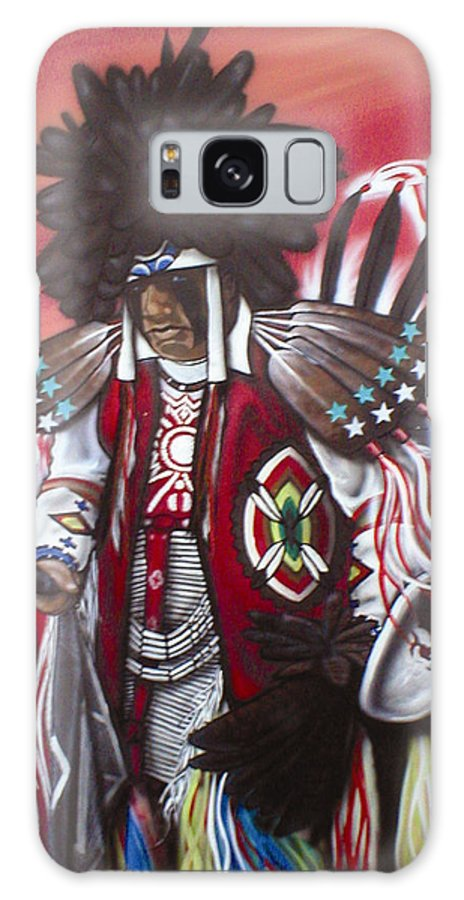 Akwesasne Galaxy S8 Case featuring the painting Akwesasne Mohawk by Curtis Mitchell
