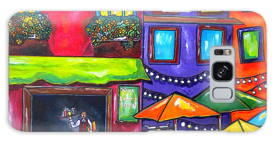 Restaurant Galaxy S8 Case featuring the painting Al Fresco by Patti Schermerhorn