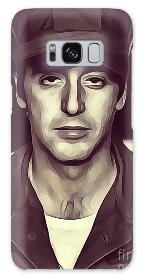 Al Pacino Galaxy S8 Case featuring the digital art Al Pacino, Actor by John Springfield