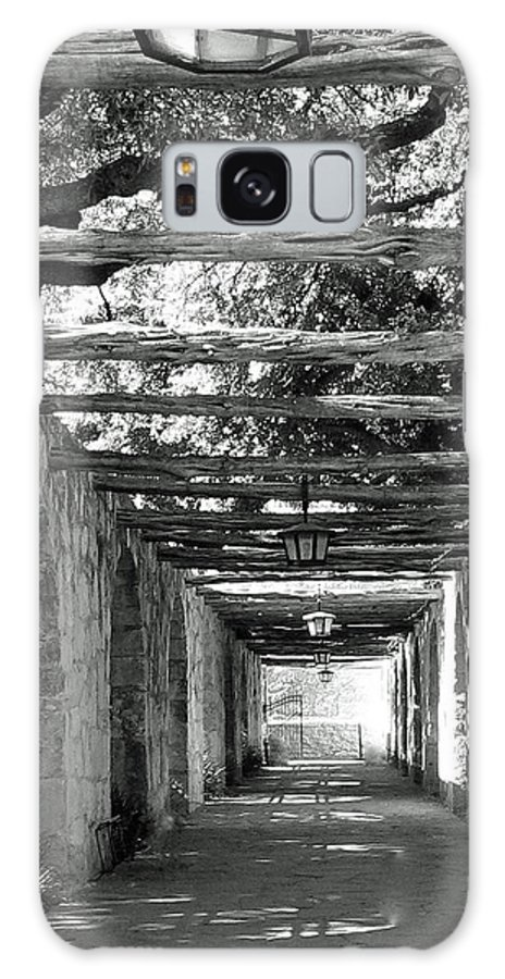 Alamo Corridor Galaxy S8 Case featuring the photograph Alamo Corridor by Debbie Karnes