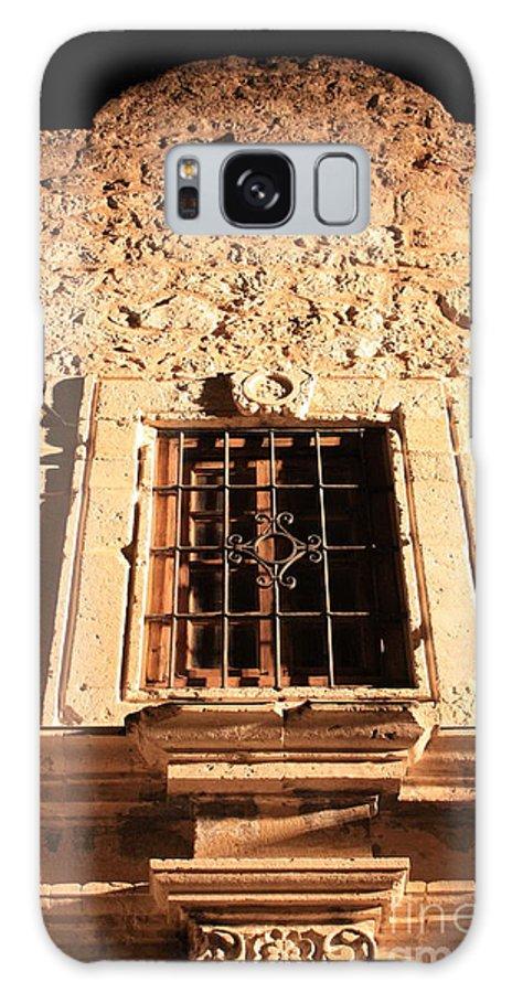 Alamo Galaxy S8 Case featuring the photograph Alamo Night Window by Carol Groenen