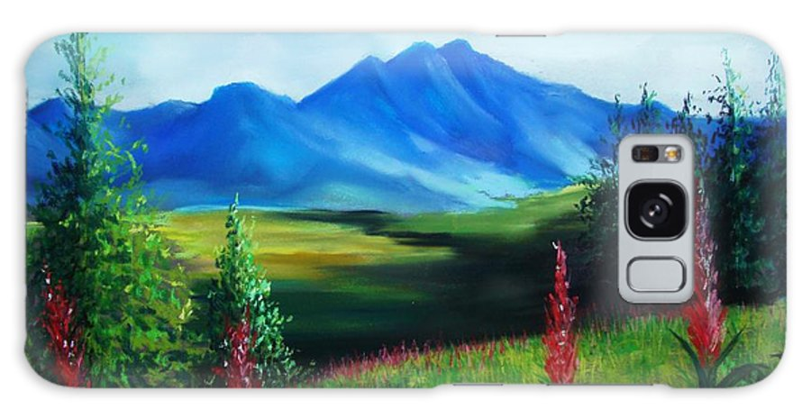 Alaska Galaxy Case featuring the pastel Alaska by Melinda Etzold