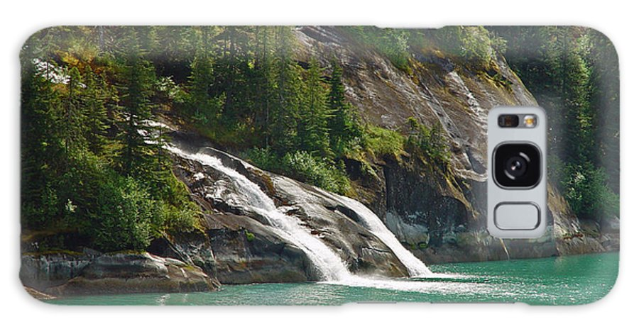 Waterfall Galaxy Case featuring the photograph Alaska Tracy Arm by Heather Coen