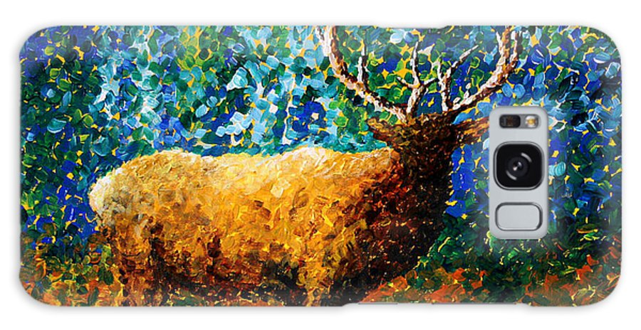 Abstract Galaxy S8 Case featuring the painting Alaskan Elk Original Madart Painting by Megan Duncanson