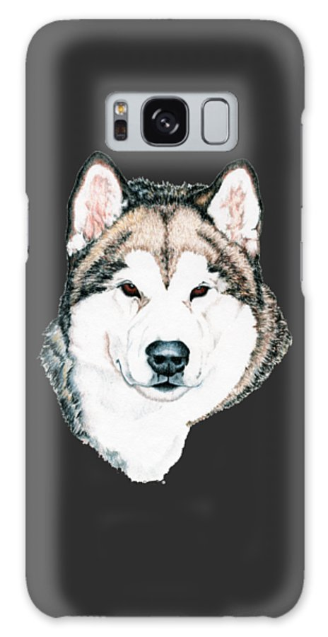 Art Galaxy Case featuring the drawing Alaskan Malamute by Kathleen Sepulveda