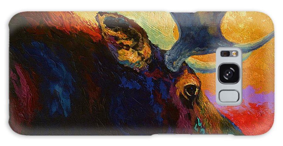 Moose Galaxy Case featuring the painting Alaskan Spirit - Moose by Marion Rose