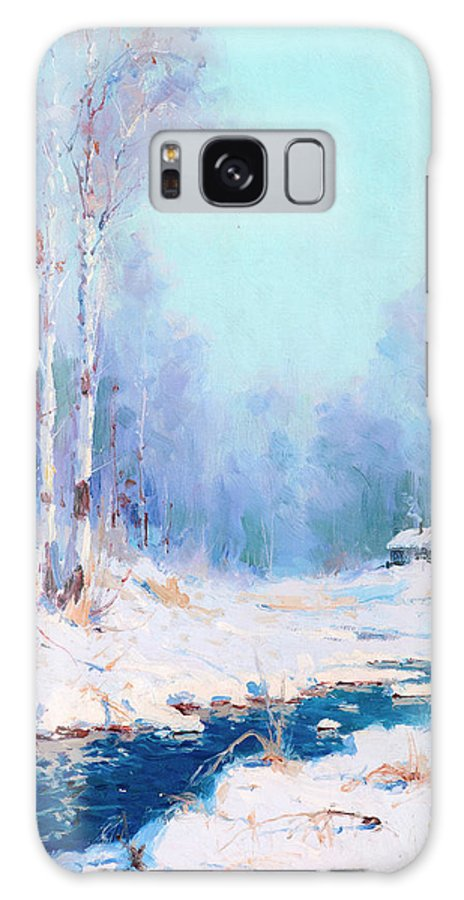 Alaskan Winter Galaxy S8 Case featuring the painting Alaskan Winter by Sydney Mortimer Laurence