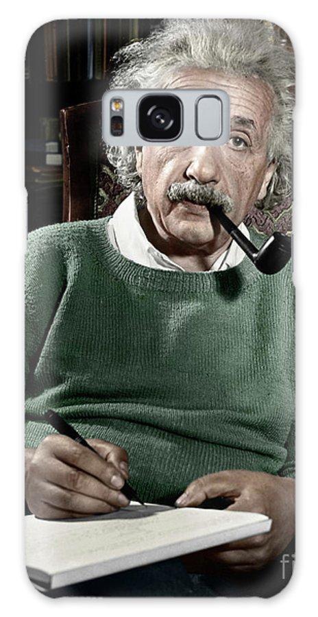 1940 Galaxy S8 Case featuring the photograph Albert Einstein by Granger
