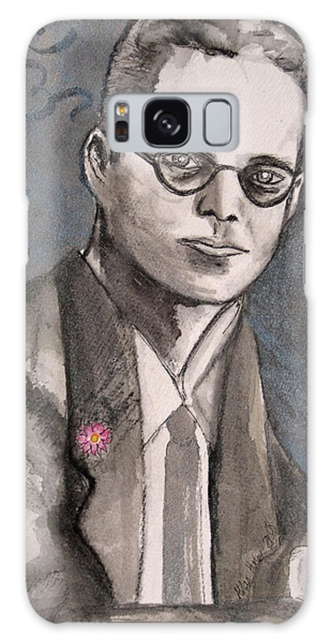 Aldous Brave Darkestartist Huxley New Painting Portrait Watercolor Watercolour World Galaxy S8 Case featuring the painting Aldous Huxley by Darkest Artist