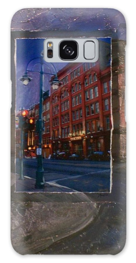 Ale House Galaxy S8 Case featuring the mixed media Ale House And Street Lamp by Anita Burgermeister