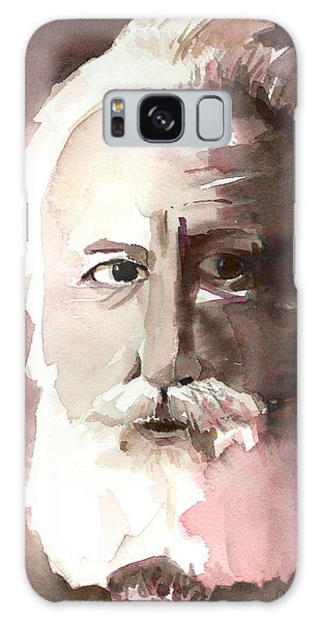 Alexander Graham Bell Galaxy Case featuring the painting Alexander Graham Bell by Arline Wagner