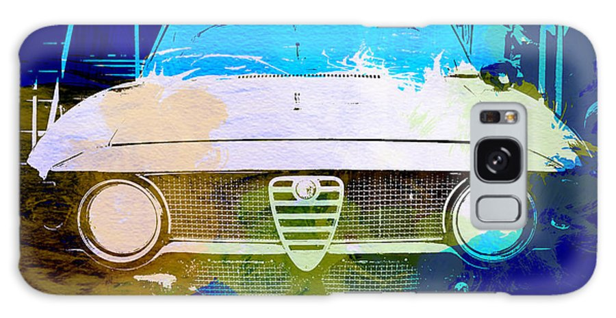 Galaxy S8 Case featuring the photograph Alfa Romeo Watercolor by Naxart Studio