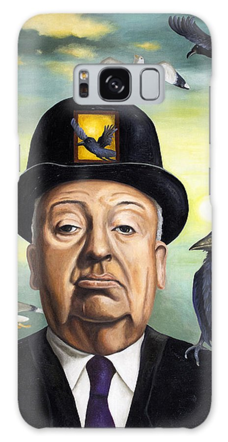 Alfred Hitchcock Galaxy S8 Case featuring the painting Alfred Hitchcock by Leah Saulnier The Painting Maniac