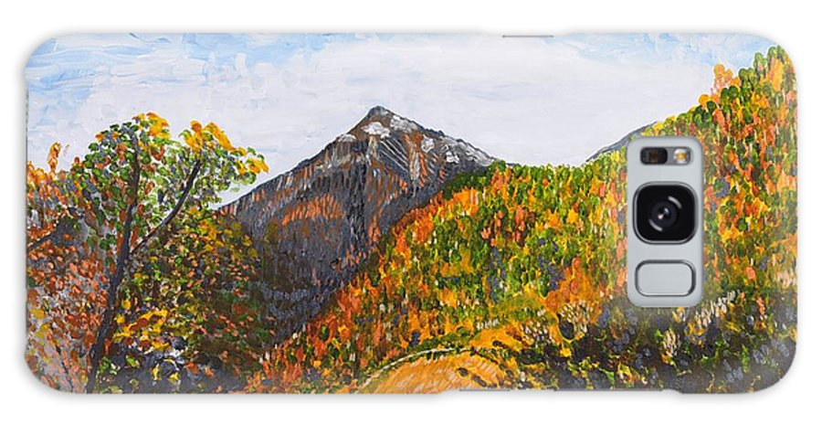 Landscape Galaxy Case featuring the painting Algund View by Valerie Ornstein