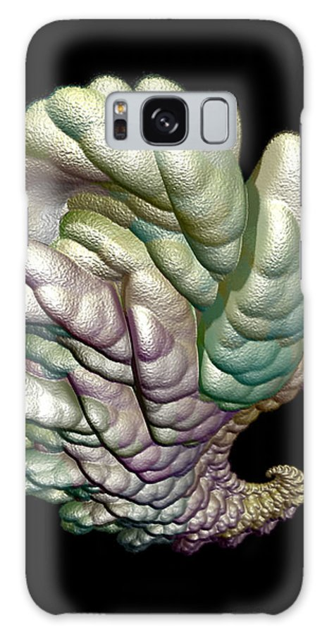 Fractal Galaxy S8 Case featuring the digital art Alien Brain by Frederic Durville