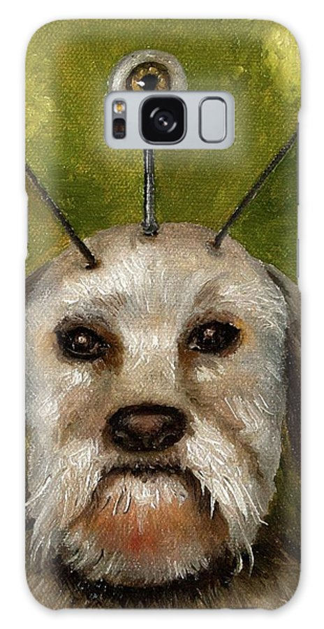 Dog Galaxy S8 Case featuring the painting Alien Dog by Leah Saulnier The Painting Maniac