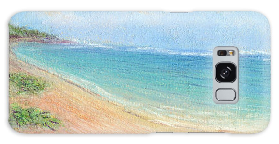 Rainbow Colors Pastel Galaxy Case featuring the painting Aliomanu Beach by Kenneth Grzesik