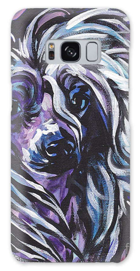 Chinese Crested Galaxy S8 Case featuring the painting All About The Crest by Lea S