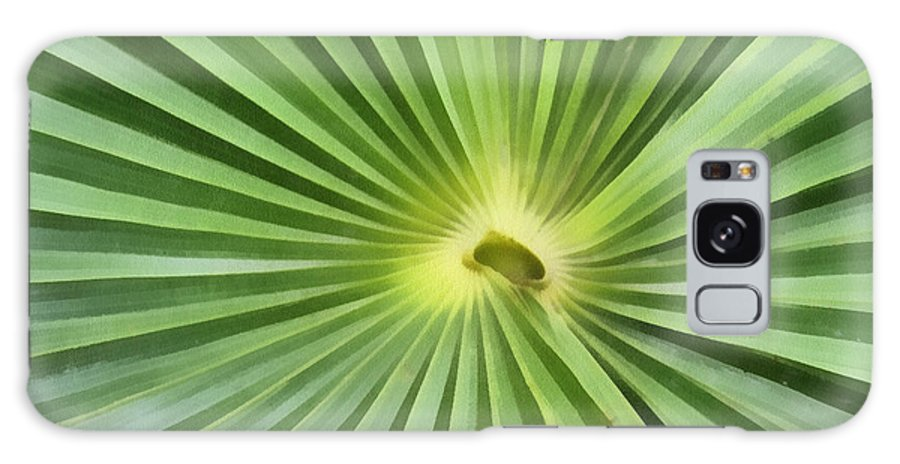 Leaf Galaxy S8 Case featuring the digital art All Green by Teresa Zieba