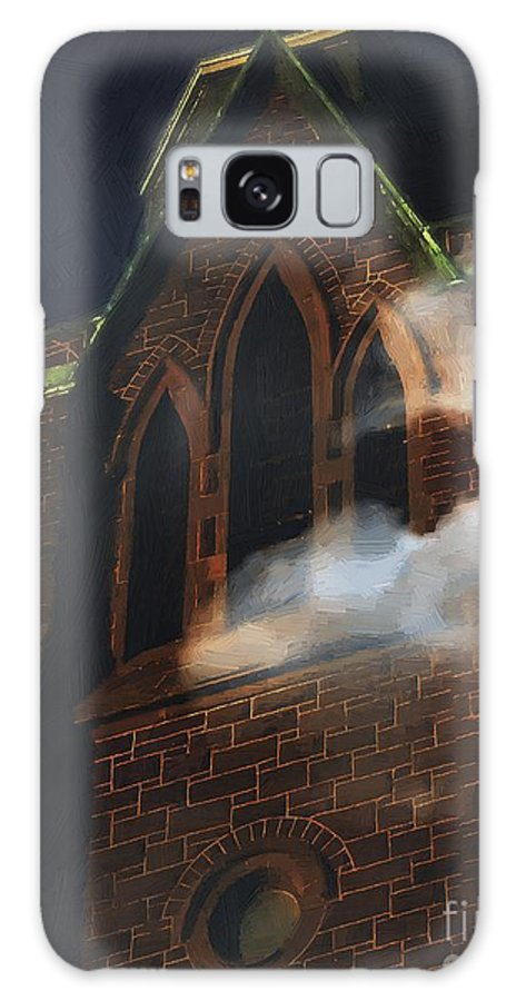 Church Galaxy S8 Case featuring the painting All Hallows by RC DeWinter