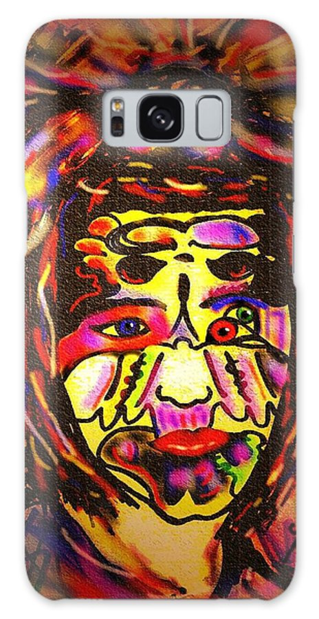 Man Galaxy Case featuring the painting All Seeing Eye by Natalie Holland