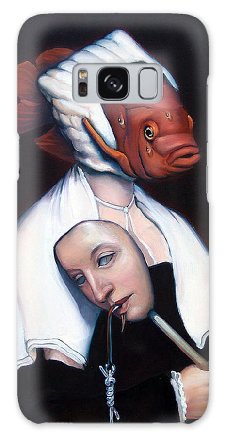 Fish Galaxy S8 Case featuring the painting Allegory Of Fishing by Patrick Anthony Pierson