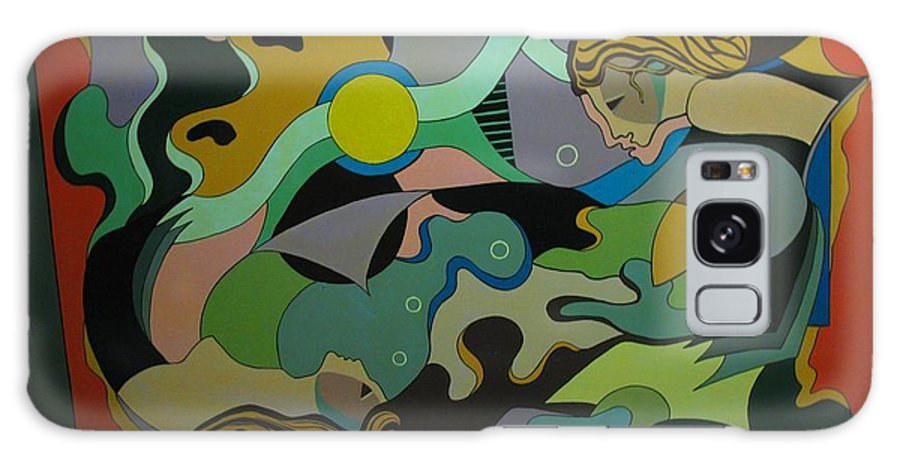 Abstract Galaxy Case featuring the painting Allegory-the Double Personality by Vasilis Bottas