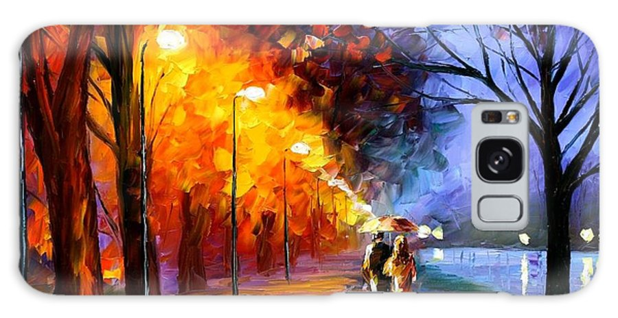Afremov Galaxy S8 Case featuring the painting Alley By The Lake by Leonid Afremov