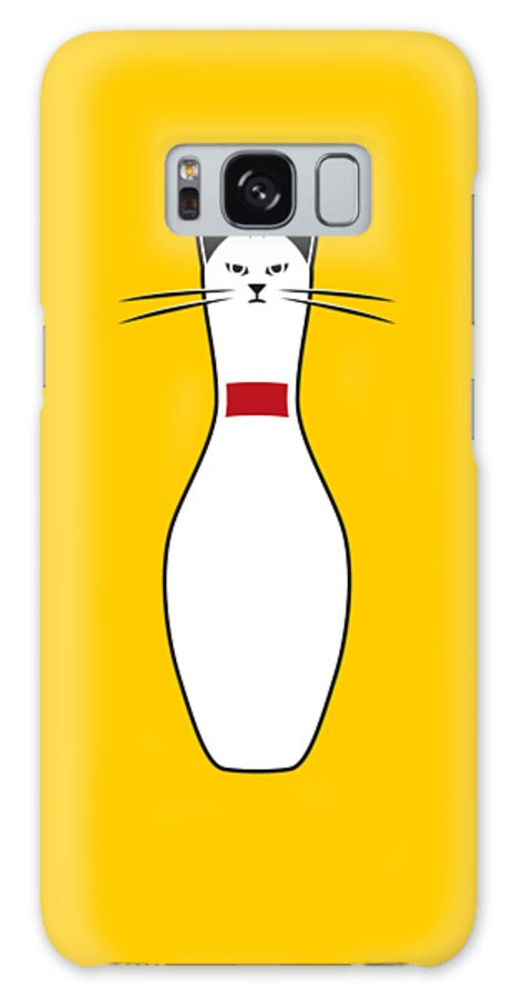 Cat Galaxy S8 Case featuring the digital art Alley Cat by Nicholas Ely