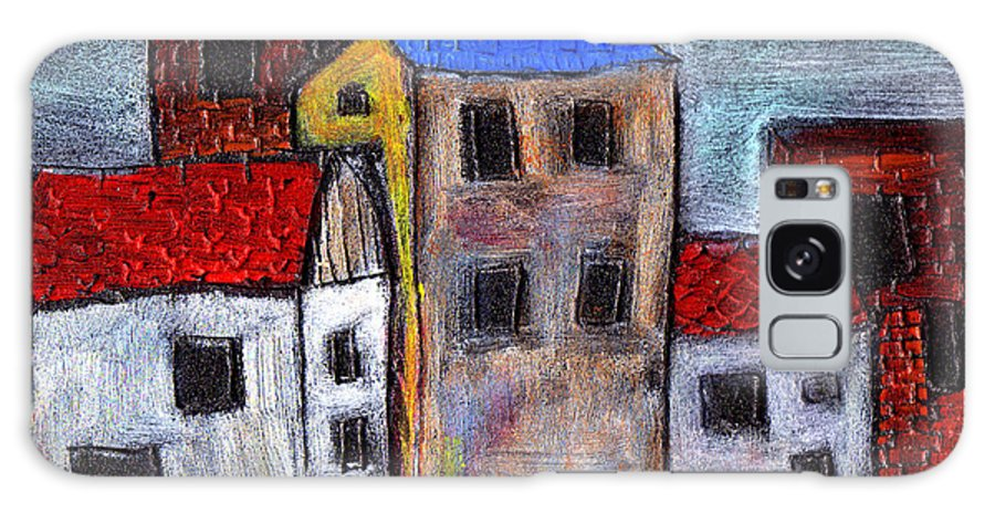 City Scene Galaxy Case featuring the painting Alley Doors by Wayne Potrafka
