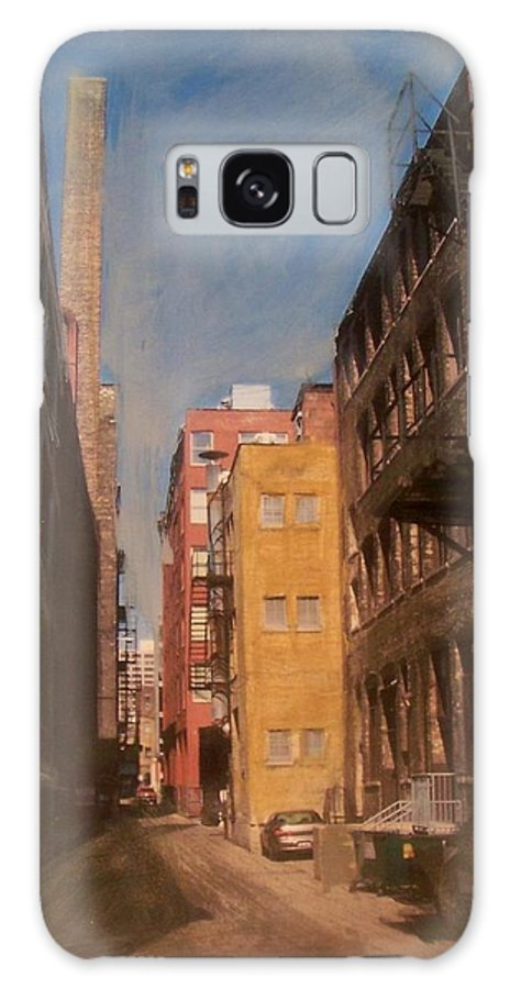 Alley Galaxy S8 Case featuring the mixed media Alley Series 2 by Anita Burgermeister