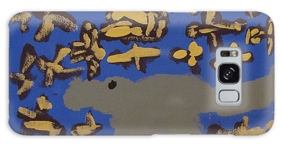 Fish Galaxy Case featuring the painting Alligator Among Fish by Melissa Parks