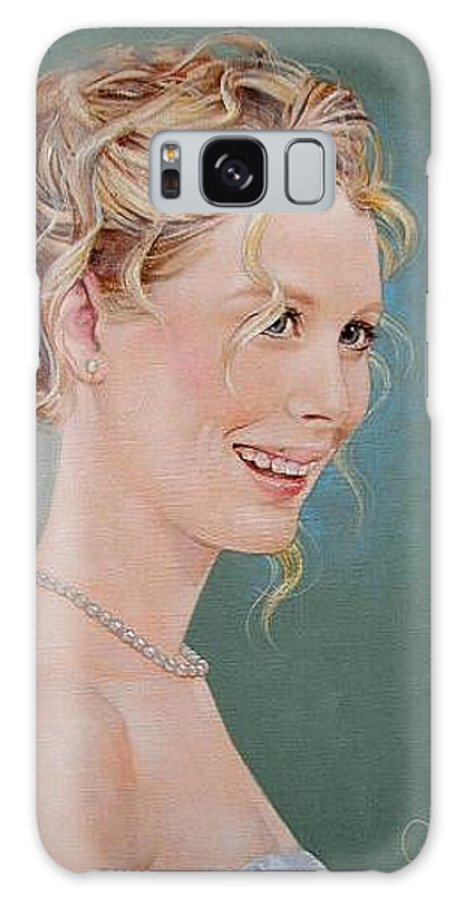 Wedding Galaxy S8 Case featuring the painting Allison by Jerrold Carton