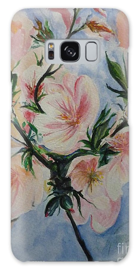 Flowers Galaxy S8 Case featuring the painting Almond Blossom by Lizzy Forrester