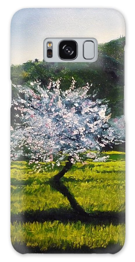 Almond Tree Galaxy S8 Case featuring the painting Almond Tree In Blossom by Lizzy Forrester