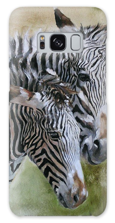 Wildlife Art Galaxy Case featuring the painting Almost Grown by Debra Jones