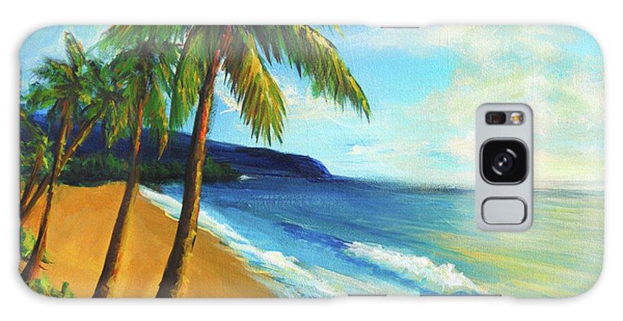 Beach Galaxy S8 Case featuring the painting Aloha by Hanako Hawaii