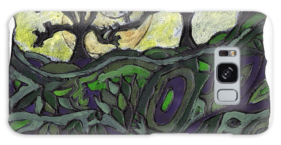 Woods Galaxy S8 Case featuring the painting Alone In The Woods by Wayne Potrafka