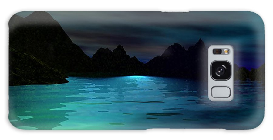 Seascape Galaxy S8 Case featuring the digital art Alone On The Beach by David Lane
