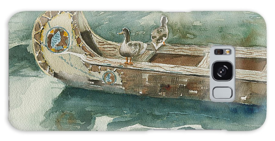 Duck Galaxy S8 Case featuring the painting Along For The Ride by Arline Wagner