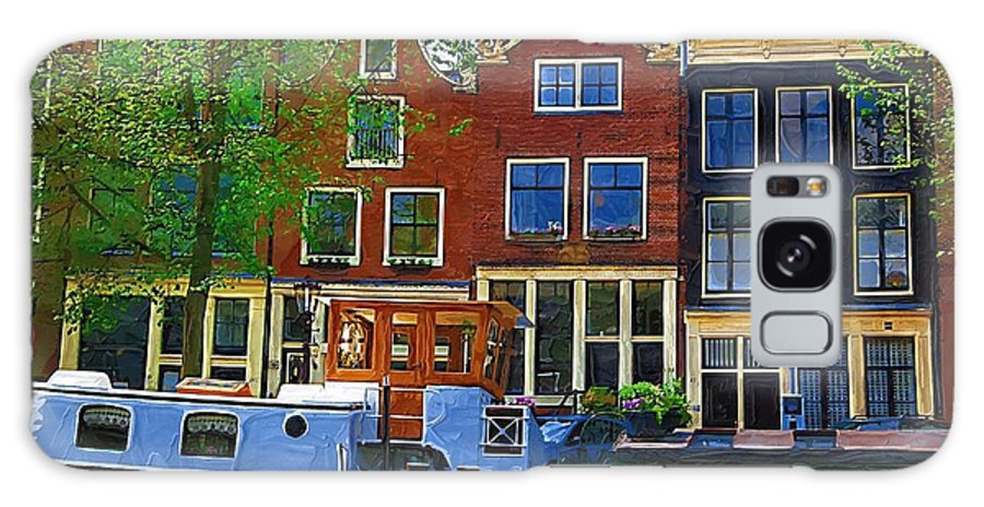 Amsterdam Galaxy S8 Case featuring the photograph Along The Canal by Tom Reynen