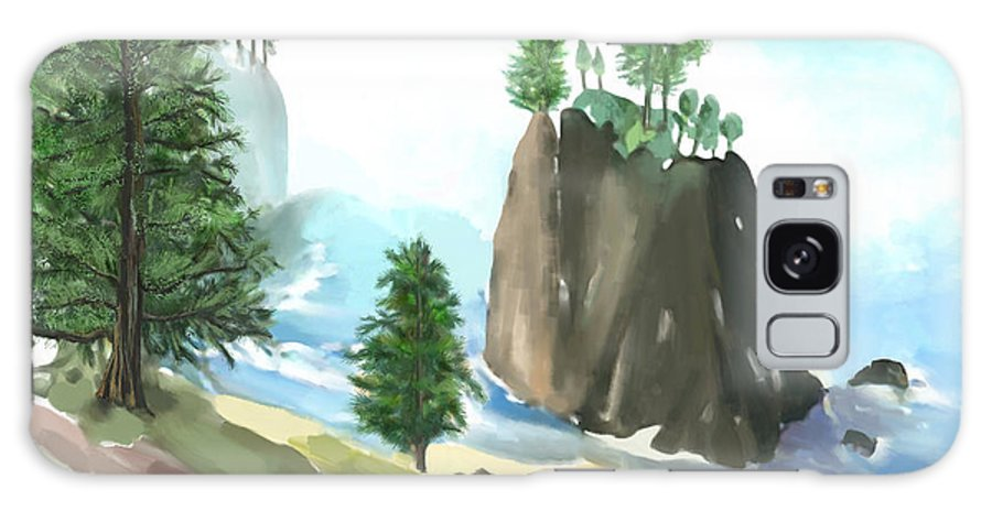 Oregon Galaxy Case featuring the digital art Along The Oregon Coast by Arline Wagner