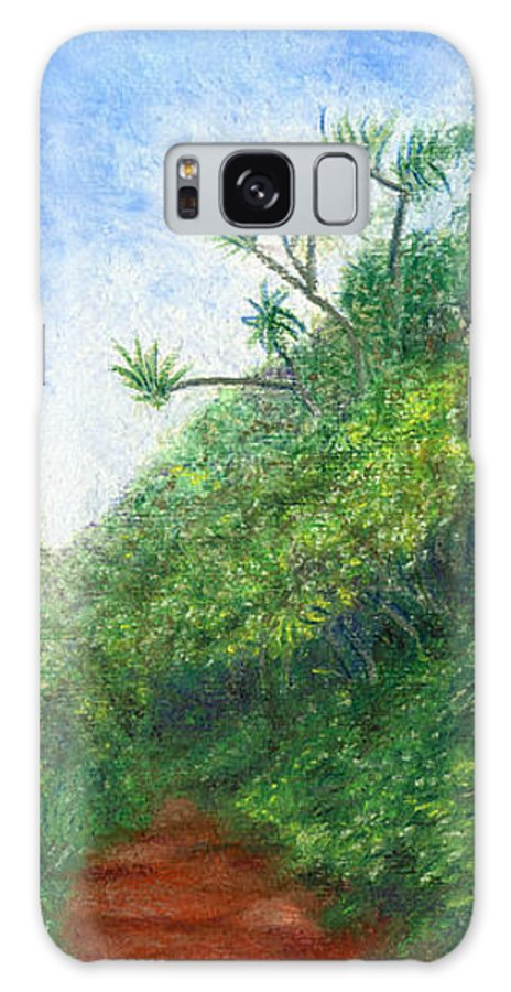 Coastal Decor Galaxy Case featuring the painting Along The Trail by Kenneth Grzesik