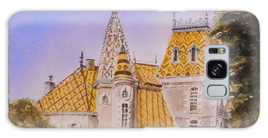 Vineyard Galaxy S8 Case featuring the painting Aloxe Corton Chateau Jaune by Mary Ellen Mueller Legault