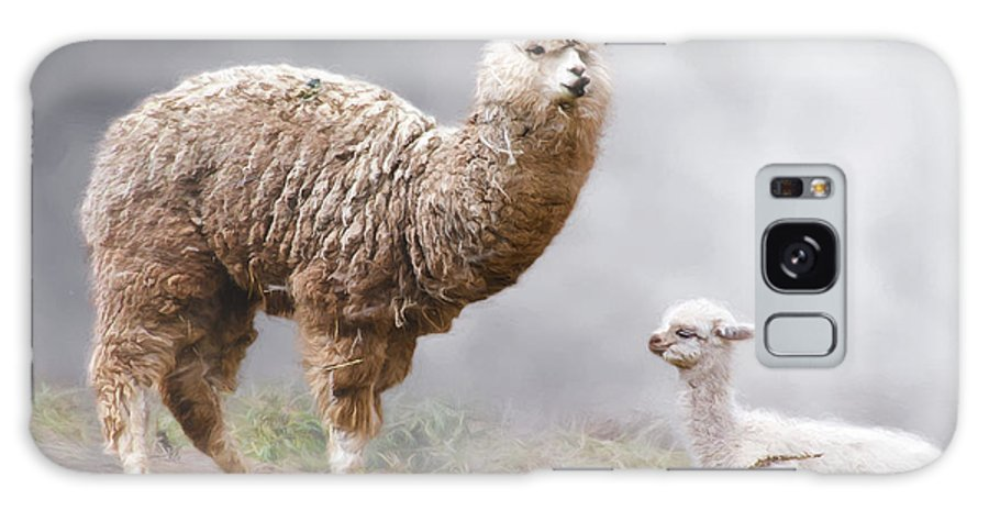 Peru Galaxy S8 Case featuring the photograph Alpacas Mum And Baby by Claude LeTien