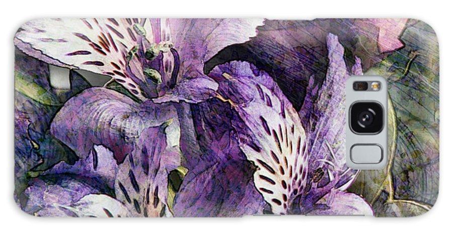 Flowers Galaxy S8 Case featuring the digital art Alstroemeria by Barbara Berney