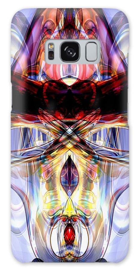 3d Galaxy S8 Case featuring the digital art Altered States Abstract by Alexander Butler