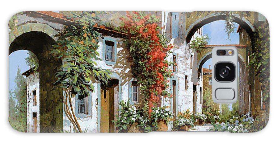 Arches Galaxy Case featuring the painting Altri Archi by Guido Borelli